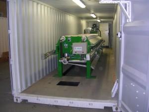 Unités mobiles de déshydratation par filtre presse - container FAURE EQUIPEMENT