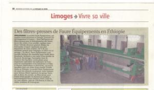 Faure Équipements livre des filtres presses en Ethiopie